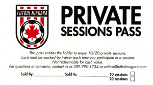 Private Session Card 50