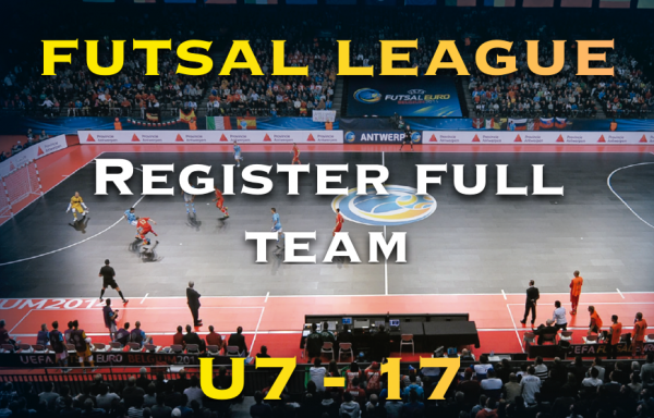 Futsal League Team Registration – Winter Season
